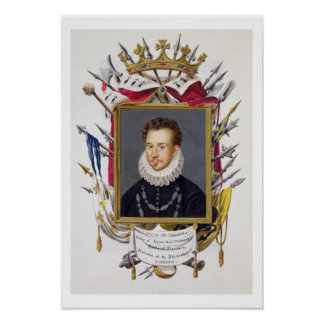 Portrait of Charles IX of France (1550-74) from 'M Poster