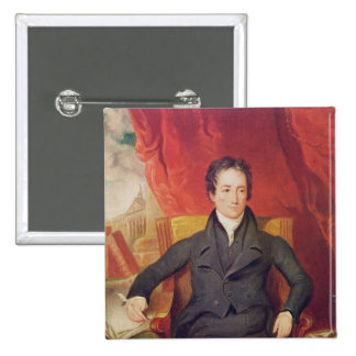 Portrait of Charles Lamb  1826 2 Inch Square Button