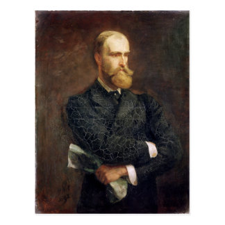 Portrait of Charles Stewart Parnell  1892 Postcard