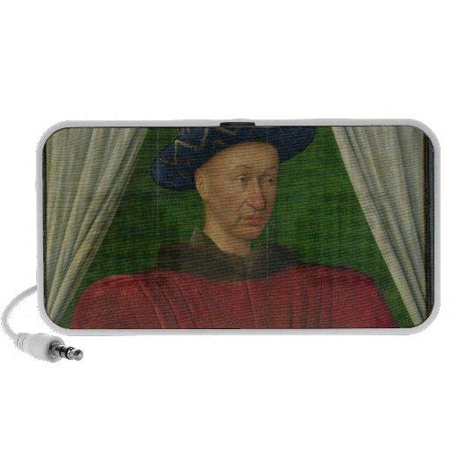 Portrait of Charles VII, c.1445-50 Laptop Speakers