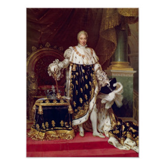 Portrait of Charles X  in Coronation Robes, 1827 Poster