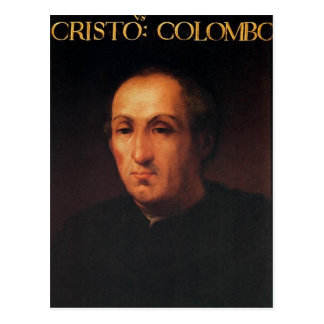 Portrait of Christopher Columbus Postcard