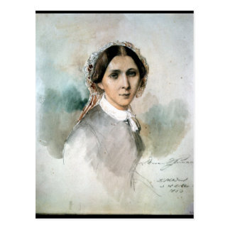 Portrait of Clara Schumann  1853 Postcard