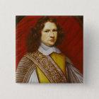 Portrait of Coeffier de Ruze d'Effiat  Marquis 2 Inch Square Button