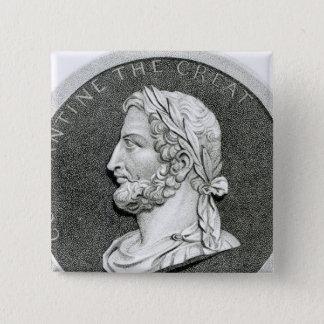 Portrait of Constantine the Great 2 Inch Square Button