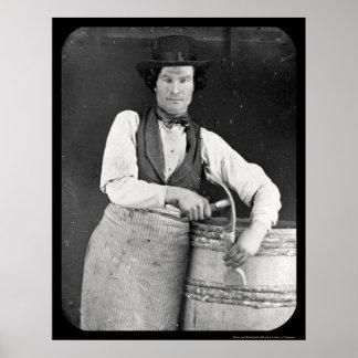 Portrait of Cooper Daguerreotype 1844 Poster
