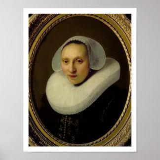 Portrait of Cornelia Pronck, Wife of Albert Cuyper Poster