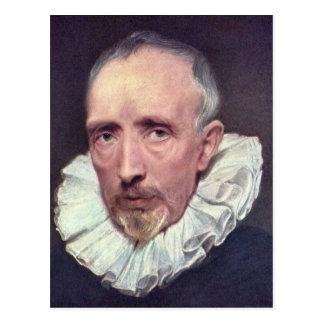 Portrait of Cornelius van der Geest by Van Dyck Postcard