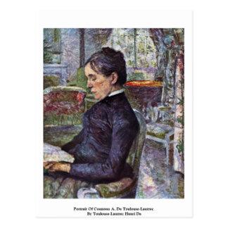 Portrait Of Countess A. De Toulouse-Lautrec Postcard