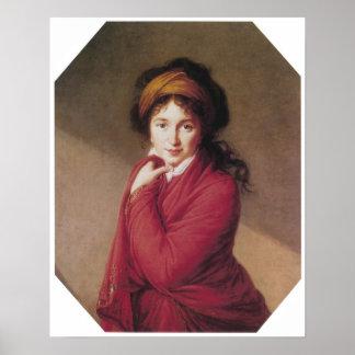 Portrait of Countess Golovin, Vigee-Lebrun Poster