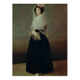 Portrait of Countess  Marquesa de la Solana Postcard