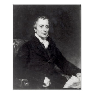 Portrait of David Ricardo Poster