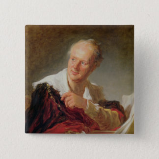 Portrait of Denis Diderot  c.1769 2 Inch Square Button