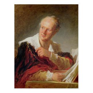 Portrait of Denis Diderot  c.1769 Postcard