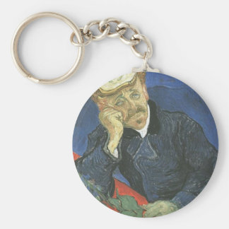 Portrait Of Doctor Paul Gachet Basic Round Button Keychain