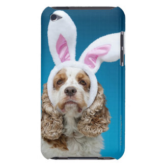 Portrait of dog wearing Easter bunny ears Barely There iPod Cover