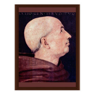 Portrait Of Don Biagio Milanesi By Perugino Pietro Postcard