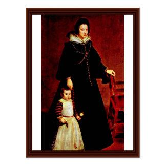 Portrait Of Doña Antonia Ipeñarrieta With A Son Postcard