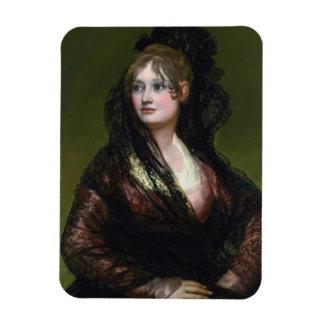 Portrait of Dona Isabel de Cabos Porsel   de Goya Magnet