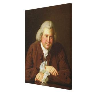 Portrait of Dr Erasmus Darwin Canvas Print