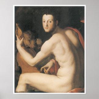 """Portrait of Duke Cosimo I de""""medici as Orpheus Poster"""
