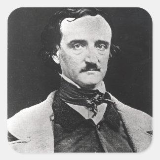 Portrait of Edgar Allan Poe Square Sticker