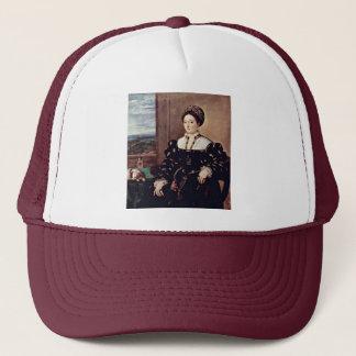 Portrait Of Eleonora Gonzaga By Tiziano Vecellio Trucker Hat