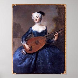 Portrait of Eleonore Louise Albertine Poster