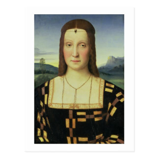 Portrait of Elizabeth Gonzaga, c.1504 (oil on pane Postcard
