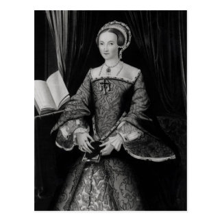 Portrait of Elizabeth I when Princess  c.1546 Postcard