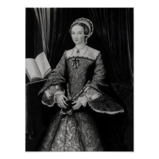 Portrait of Elizabeth I when Princess  c.1546 Poster