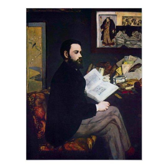 Portrait of Emile Zola by Edouard Manet Poster