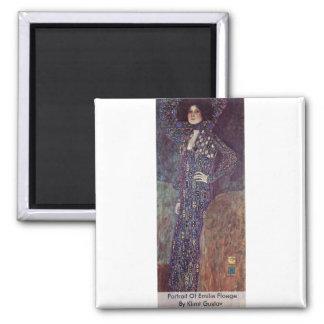 Portrait Of Emilie Floege By Klimt Gustav Refrigerator Magnet