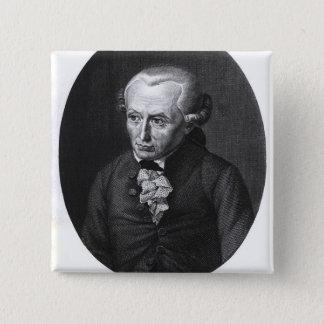 Portrait of Emmanuel Kant 2 Inch Square Button