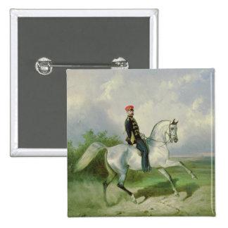 Portrait of Emperor Alexander II  1876 2 Inch Square Button