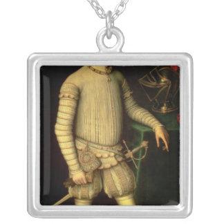 Portrait of Emperor Maximilian II  1557 Silver Plated Necklace