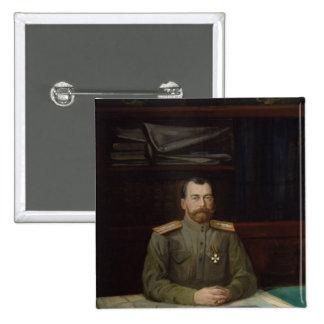 Portrait of Emperor Nicholas II, 1914 2 Inch Square Button