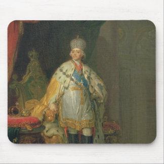 Portrait of Emperor Paul I , 1800 Mouse Pad