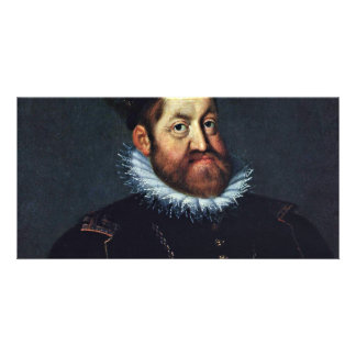 Portrait Of Emperor Rudolf Ii By Heintz D Ä Jose Personalized Photo Card