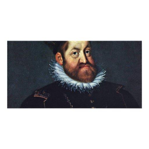 Portrait Of Emperor Rudolf Ii By Heintz D. Ä. Jose Personalized Photo Card