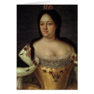 Portrait of Empress Anna Ioannovna Card