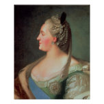 Portrait of Empress Catherine II the Great Poster