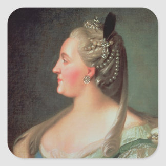 Portrait of Empress Catherine II the Great Square Sticker
