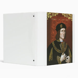 Portrait of English King Richard III 3 Ring Binder