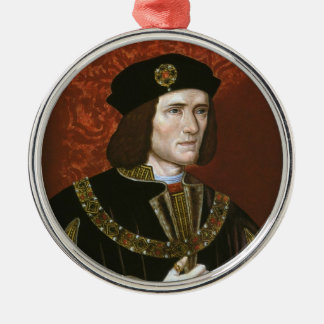 Portrait of English King Richard III Silver-Colored Round Ornament