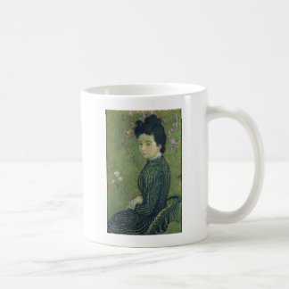 Portrait of Eva Meurier in a Green Dress Classic White Coffee Mug