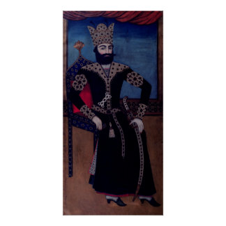 Portrait of Fath-Ali, Shah of Iran , Poster