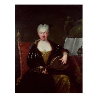 Portrait of Faustina Bordoni, Handel's singer Postcard
