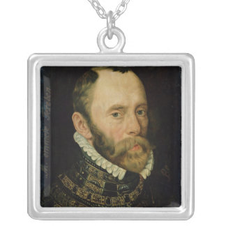 Portrait of Filips van Montmorency Silver Plated Necklace