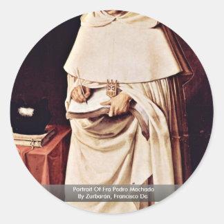 Portrait Of Fra Pedro Machado Round Sticker